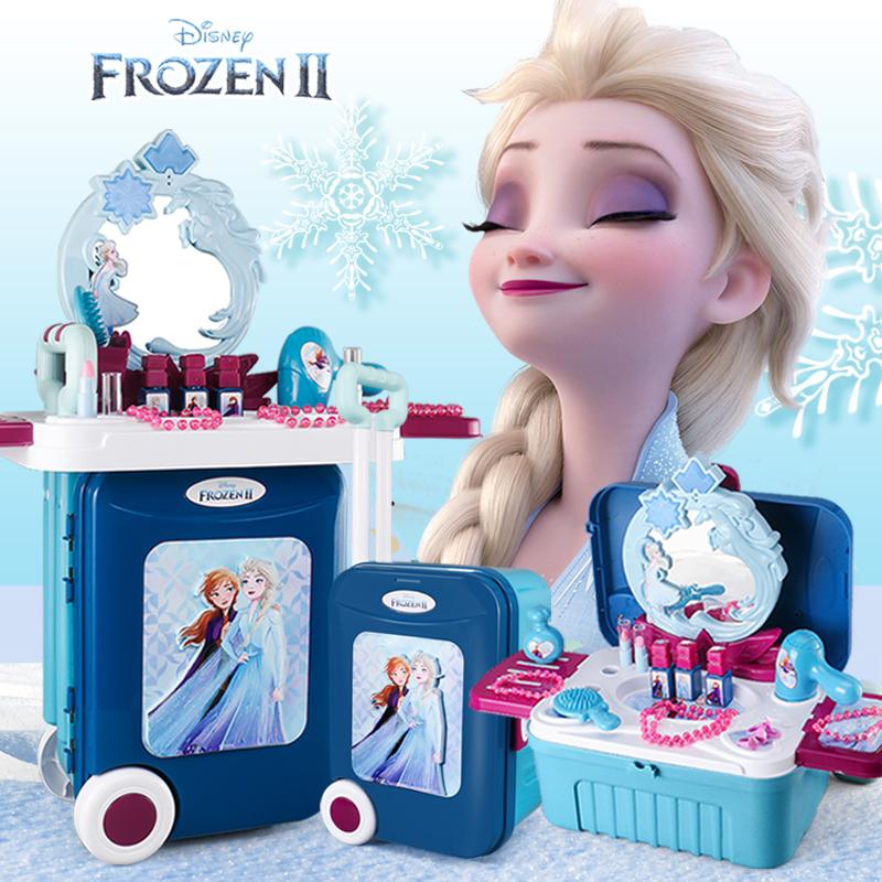 冰雪奇缘玩具爱莎梳妆台艾莎沙化妆品公主盒套装女孩儿童生日礼物