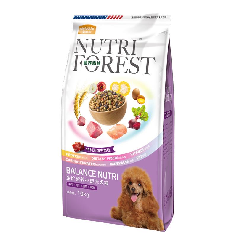 麦富迪狗粮10kg营养森林小型犬成犬幼犬泰迪雪纳瑞♂比熊通用型20斤