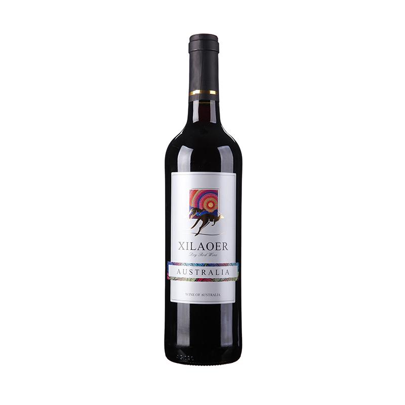 装 750ml 澳大利亚原汁进口希劳尔金袋鼠干红葡萄酒商务宴请用酒