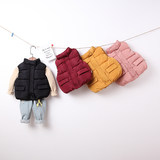 Children's down cotton vest boy spring and autumn and winter thickening girls baby vest outside wearing children's vests vests