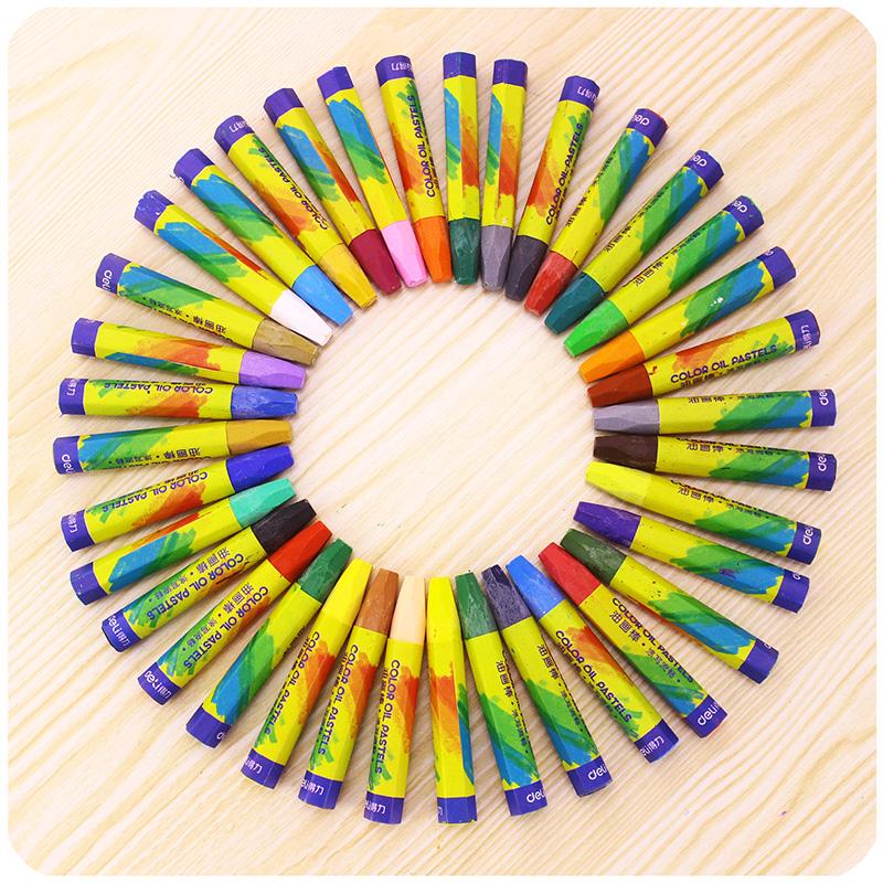 得力油画棒 宝宝儿童小学生幼儿园12色24色36色彩色蜡笔