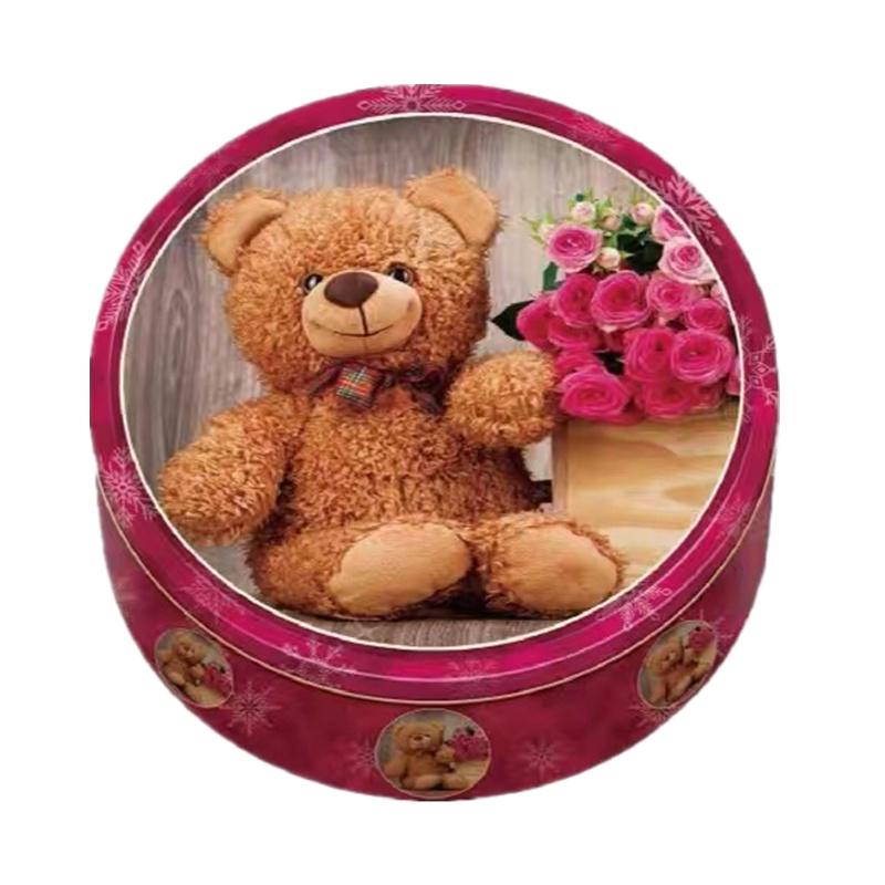 可爱小熊手工曲奇精美铁盒新年婚庆送礼礼品零食健康吃不胖饼干
