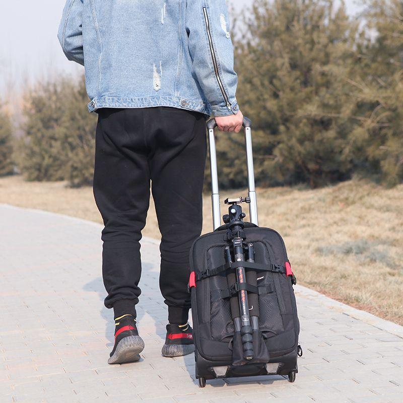 。多功能拉杆箱尼康佳能相机包数码单反双肩摄影背包大容量登机箱