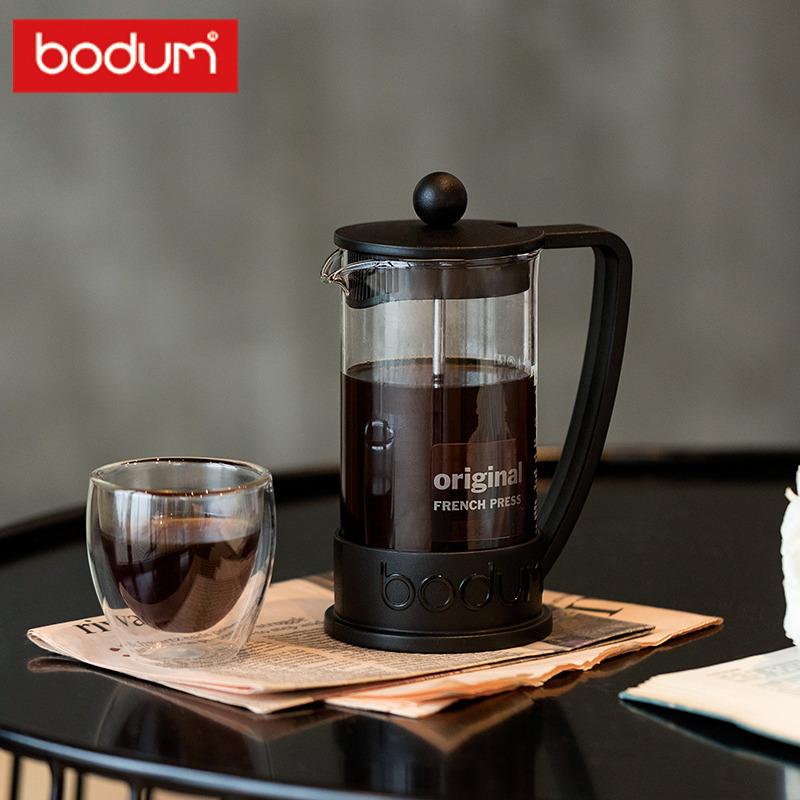 bodum波頓法壓壺350ml 進口耐熱玻璃咖啡壺濾壓茶壺小容量巴西