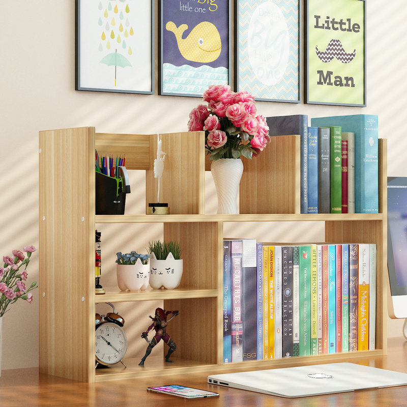 簡易書架置物架桌面兒童書架學生用辦公室書桌收納桌上省空間書櫃