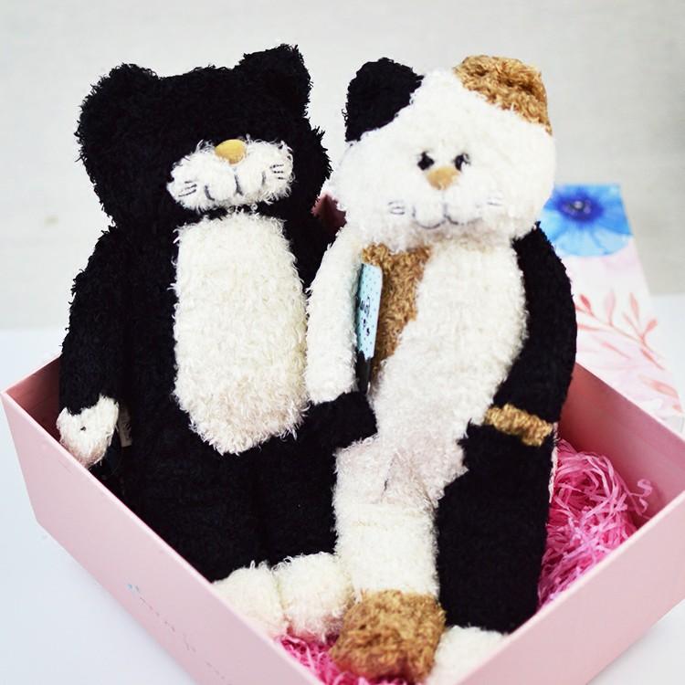 小猫咪毛绒玩具公仔玩偶可爱娃娃七夕情人节生日 Wz 日本购