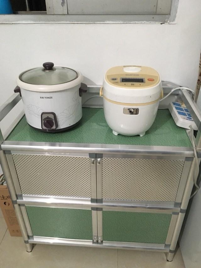 简易餐边柜碗柜厨柜三层组装柜不生锈铝合金柜橱柜厨房收纳柜包邮【图3】