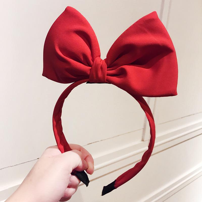 大蝴蝶结头饰迪士尼发箍森女系发饰布艺发捆网红可爱立体领结头箍