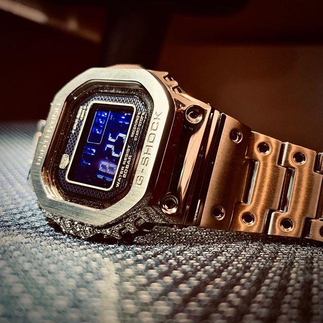 1 9 B5000GD GMW 金属方块手表光动能蓝牙电波表 SHOCK G 卡西欧金砖