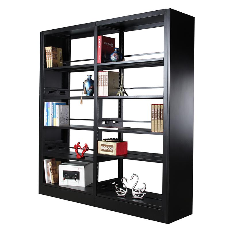 钢制书架学校图书馆阅览室书店书籍室单双面铁书架落地资料档案架