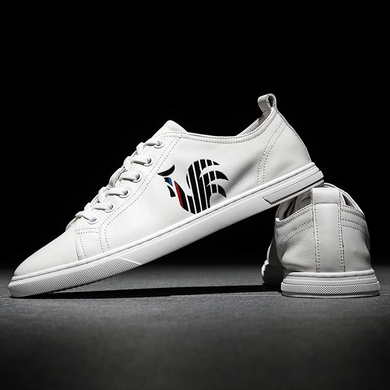 2020夏季新款男鞋流行板鞋男透气潮鞋小白鞋男士百搭真皮休闲鞋子