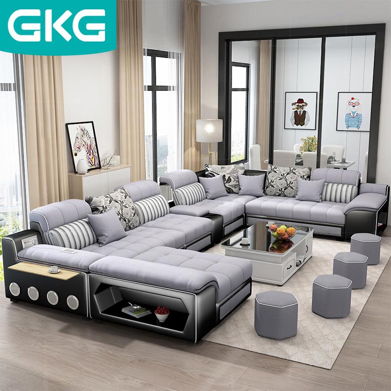 北欧布艺沙发组合套装
