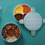 Creative home living dried fruit tray with cover plate seal ruled moisture snack confectionery dried seeds cartridge