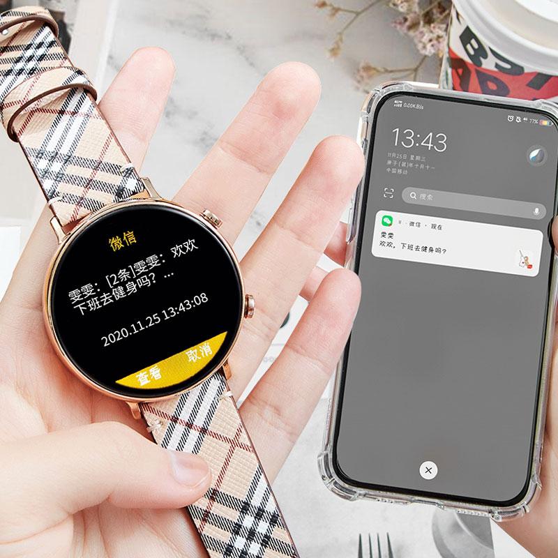 华为手机通用智能手表女蓝牙电话运动手环雪压多功能电子手表 vivo