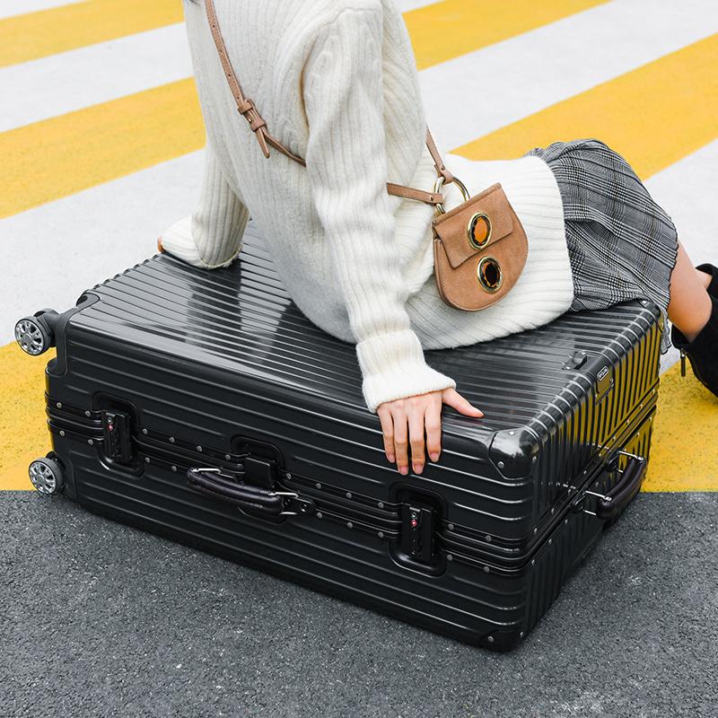 铝框非全铝拉杆箱万向轮行李箱旅行箱密码箱皮箱 PC 寸纯 28 网易严选