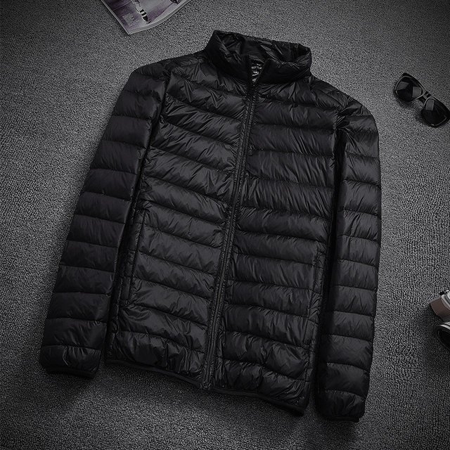 New thin down jacket men's stand-collar short slim thin section casual coat large size men's clothing ultra-thin tide