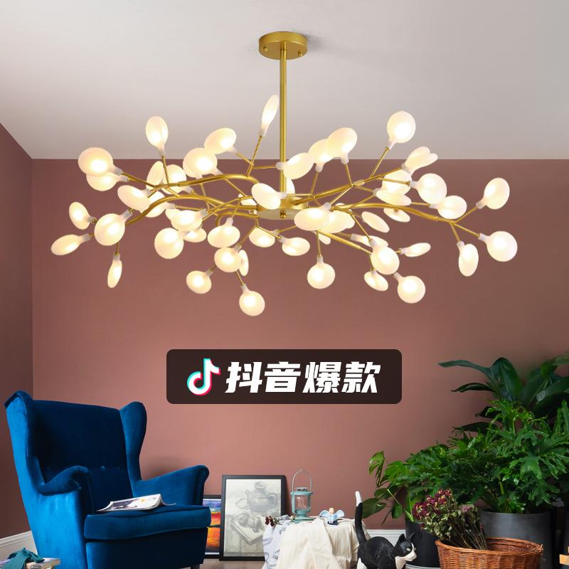 厅创意个性网红树枝萤火虫灯具