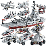 Lego 3 children's building blocks assembled toy boy 6 years old military battleship 7 assembled puzzle 8 intelligence toy model 10