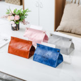 Living room tissue box ins Nordic multifunction leather waterproof tissue paper towels pumping bag home storage bag