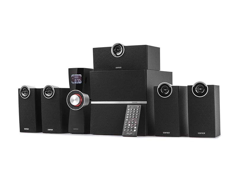 音响 5.1hifi 家庭影院音箱遥控低音炮液晶电视 C6XD 漫步者 Edifier