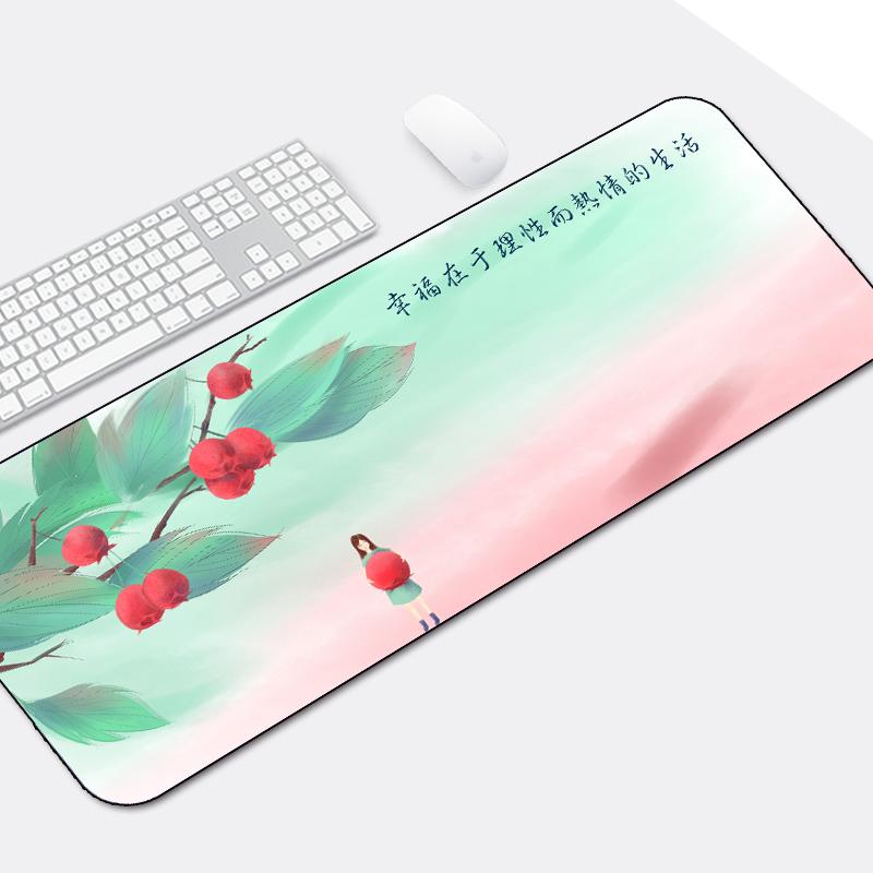 超大鼠标垫布垫防滑游戏励志加厚可爱创意锁边文艺个性办公鼠标垫