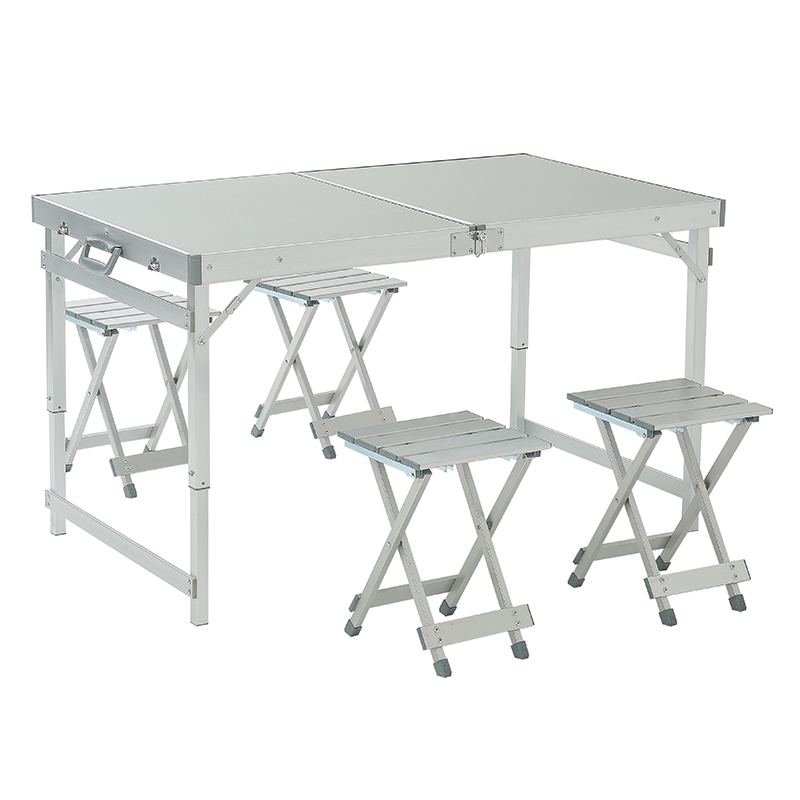 户外折叠桌椅套装便携式铝合金展业烧烤野餐营车载自驾游摆摊桌子