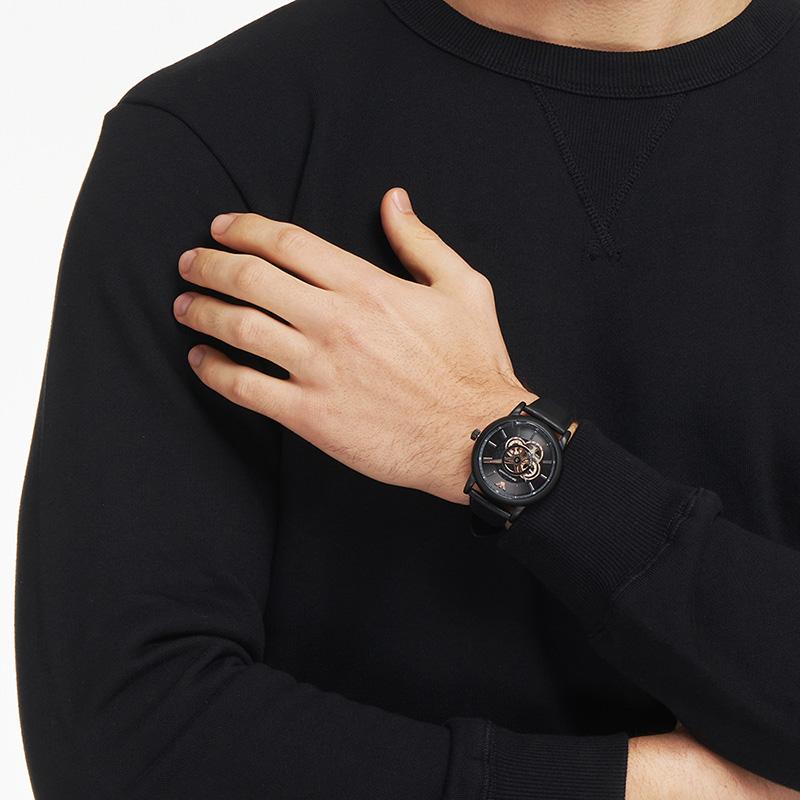 【官方】Armani阿玛尼旗舰店手表男机械表 潮流镂空黑表盘AR60012