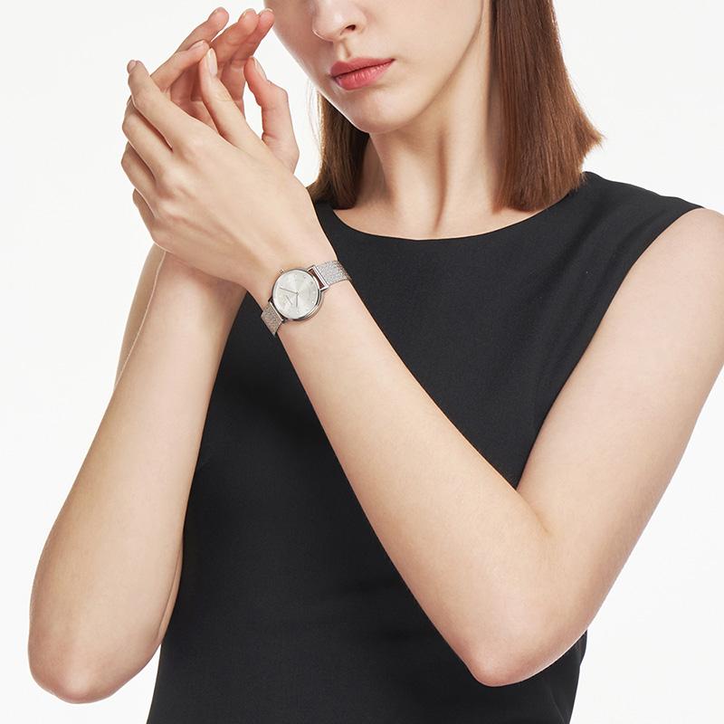 【官方】Armani阿玛尼礼盒套装满天星手表女 手表耳饰套装AR80029