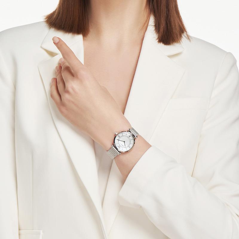 Armani阿玛尼官方正品新款钻石满天星手表女简约气质名表AR11319