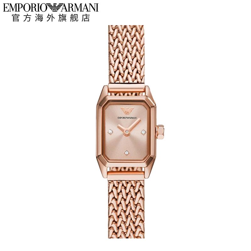 Armani阿玛尼官方方表手表女 新款钢带玫瑰金小表盘女表AR11345