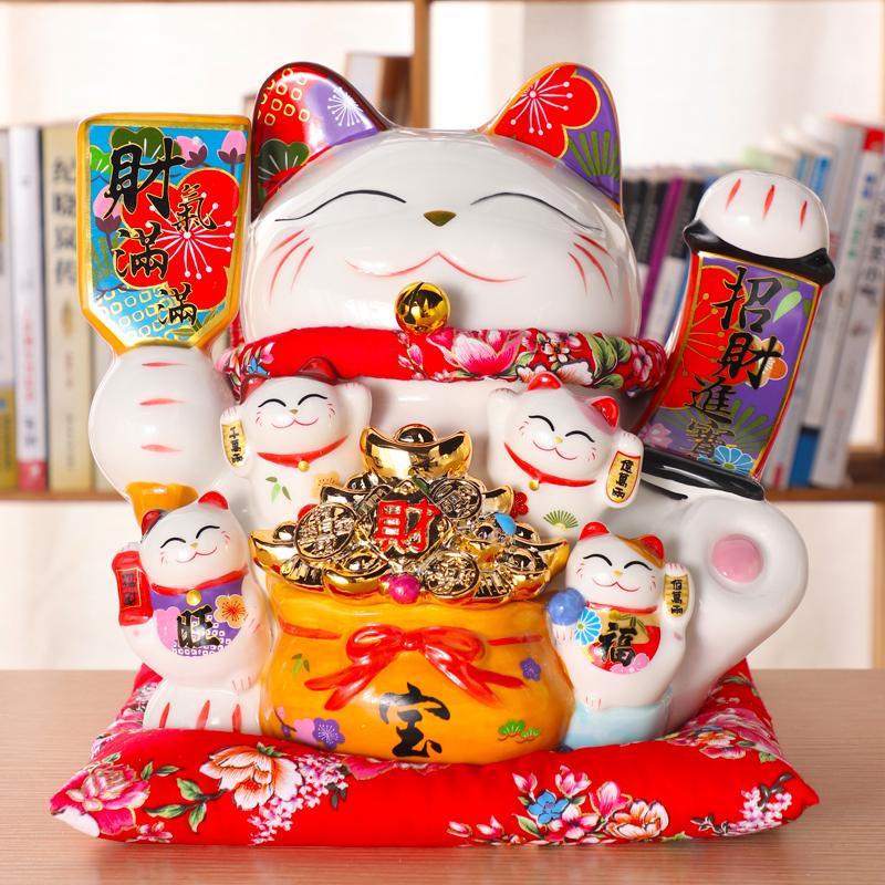 招财猫存钱罐大号超大巨型储钱罐不可取储蓄罐儿童北欧客厅瓷摆件