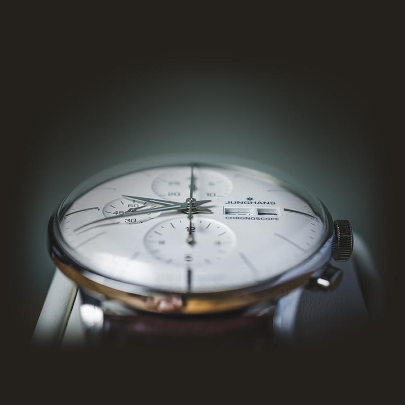 德国制造157年历史Junghans荣汉斯 大师系列多功能计时机械男手表