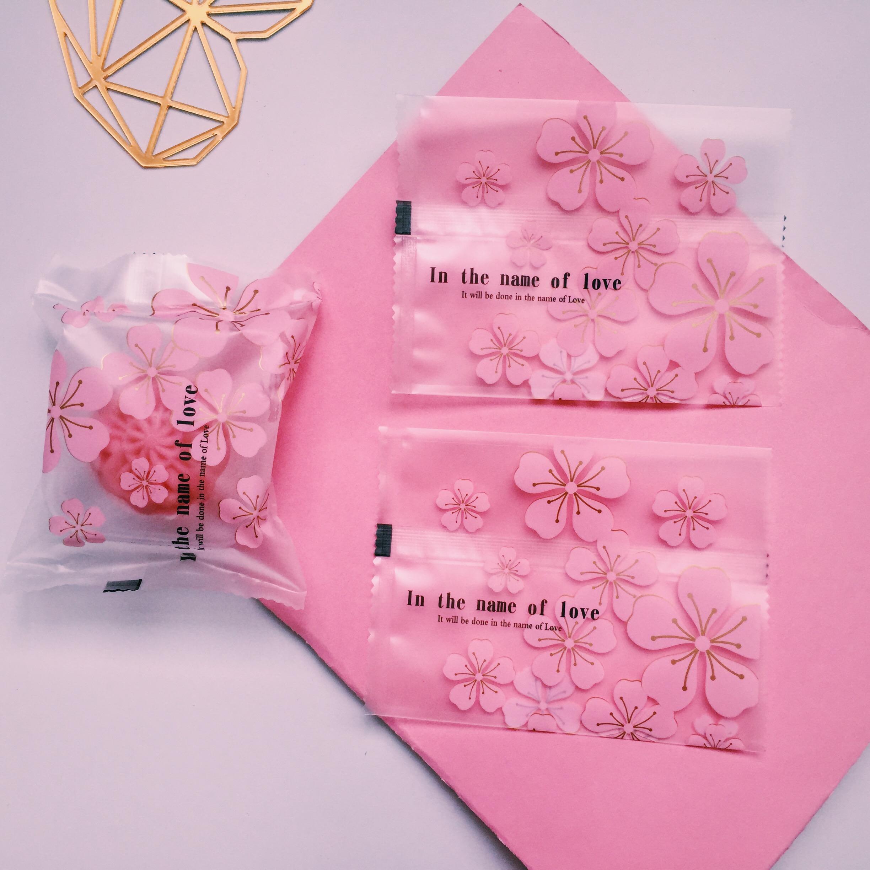 原创月饼包装袋机封袋蛋黄酥带托带底塑料托自封50克80克100克