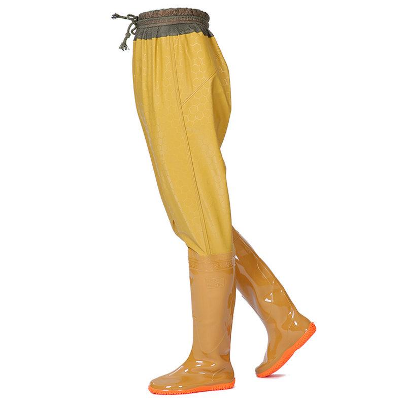 高筒过膝雨靴长筒男女插秧靴钓鱼靴捕鱼半身下水裤雨裤水鞋水田鞋
