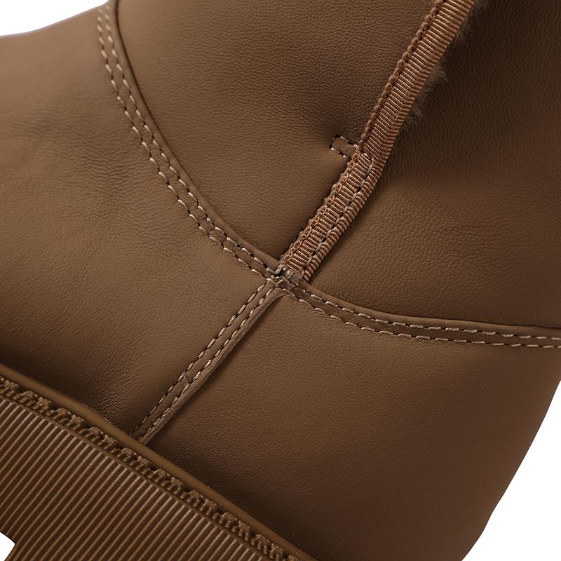 羊毛里松糕底中筒靴 丝绸羊皮面 温暖率姓 秋冬新款 SH1121386