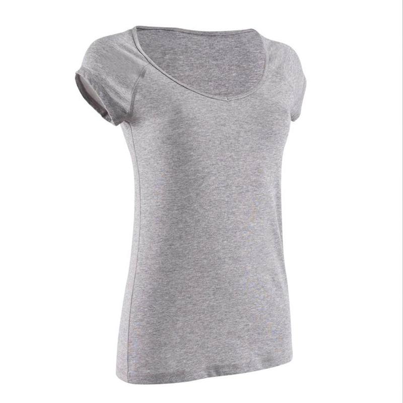 迪卡侬 运动上衣女普拉提衣服健身衣瑜伽服短袖女新款宽松t恤GYPW