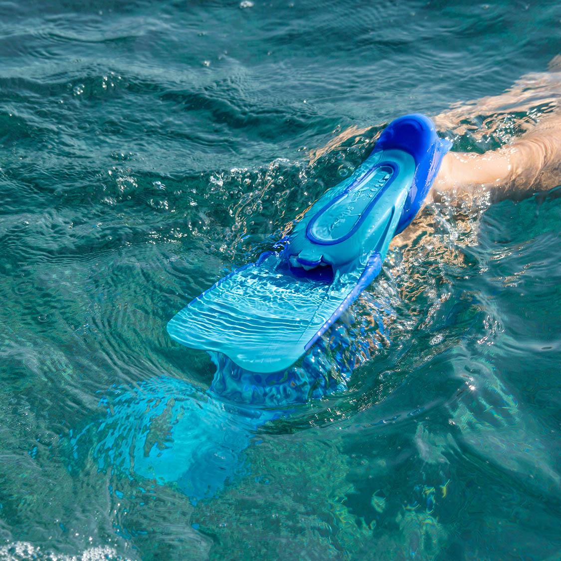 迪卡侬短脚蹼成人自由潜水浮潜三宝游泳蛙鞋儿童训练专业SUBEA