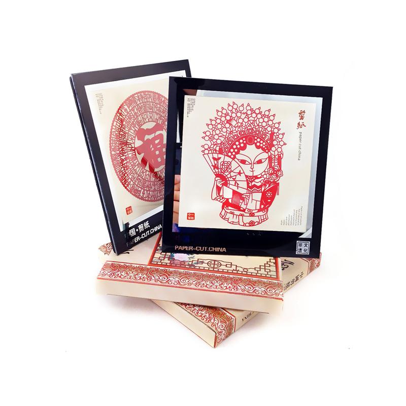 剪纸装饰画摆件中国风特色礼品送老外外事出国礼物手工艺品剪