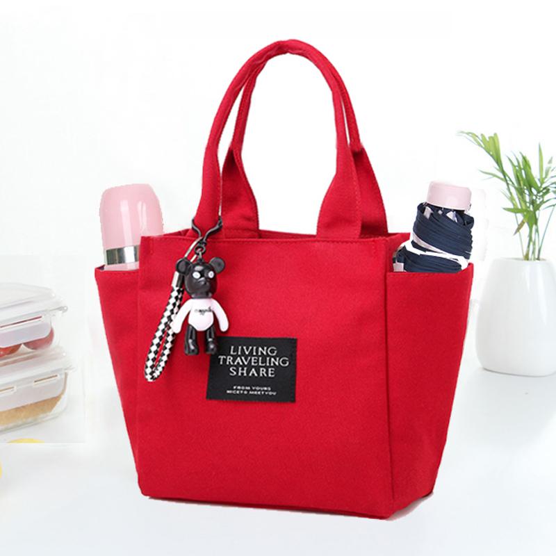 手提包女手提袋小拎包妈妈小布包帆布手拎饭盒包母婴包包