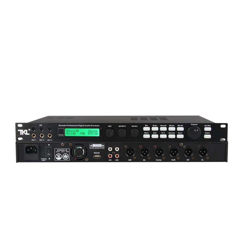 TKL x5 卡拉ok前级话筒效果器家用专业KTV数字防啸叫混响