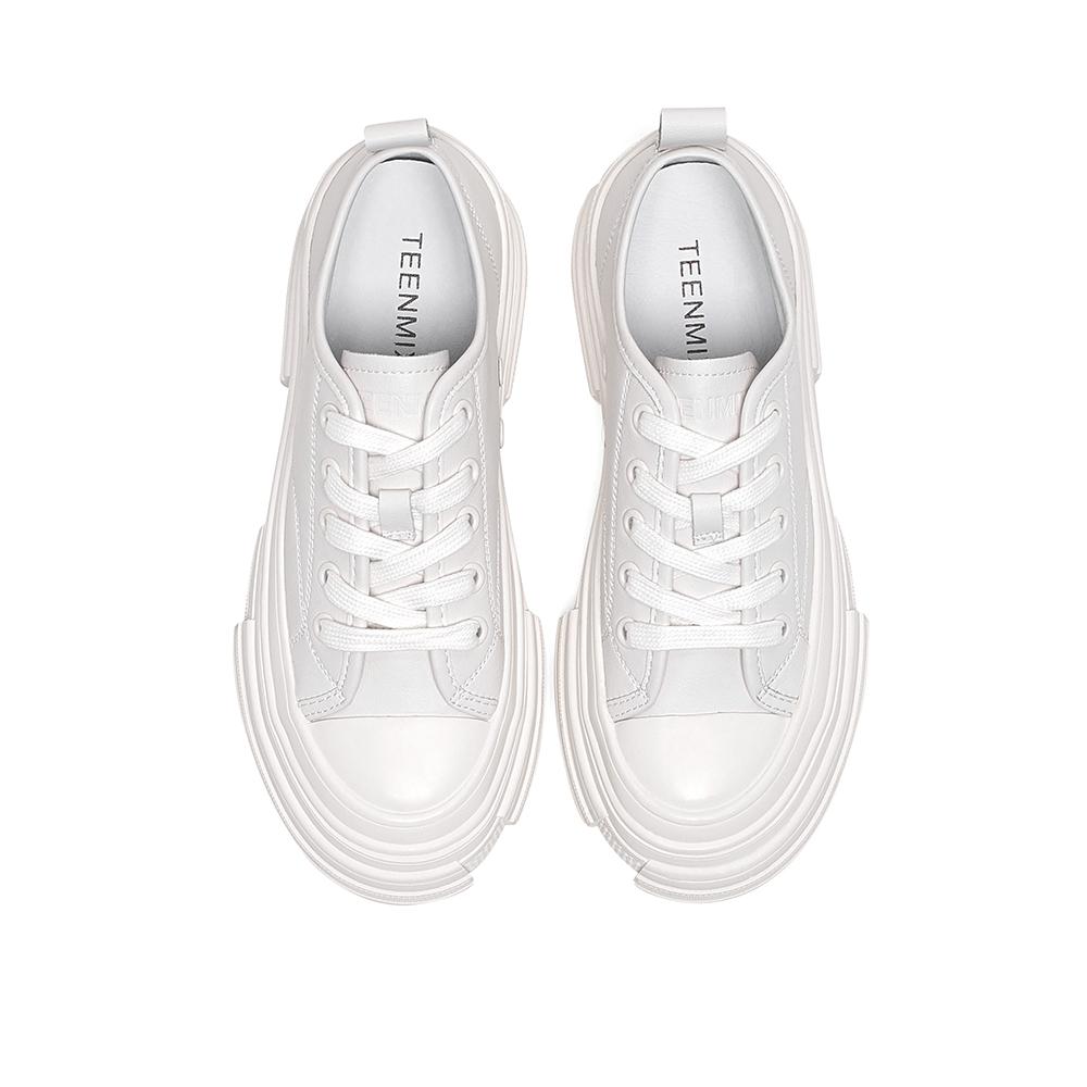 D1610AM0 春季新款简约松糕运动休闲单鞋 2020 天美意厚底小白鞋女