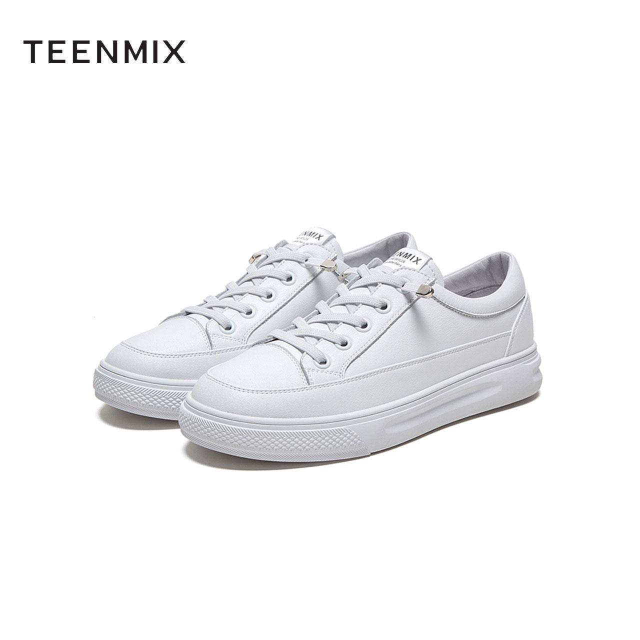 AZ171AM1 春新款商场同款百搭小白鞋女生松糕底休闲板鞋 2021 天美意