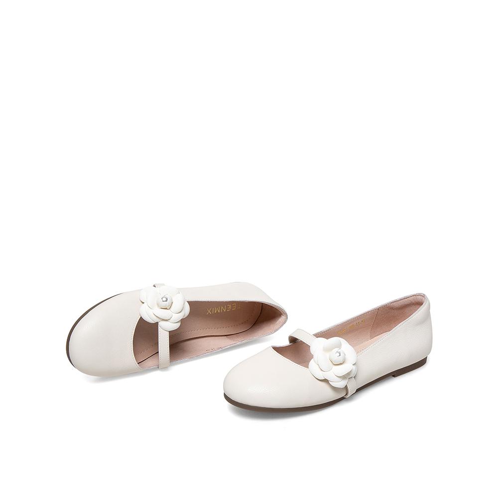 BA271AQ1 春夏新款玛丽珍小皮鞋商场同款 21 天美意平跟浅口单鞋女