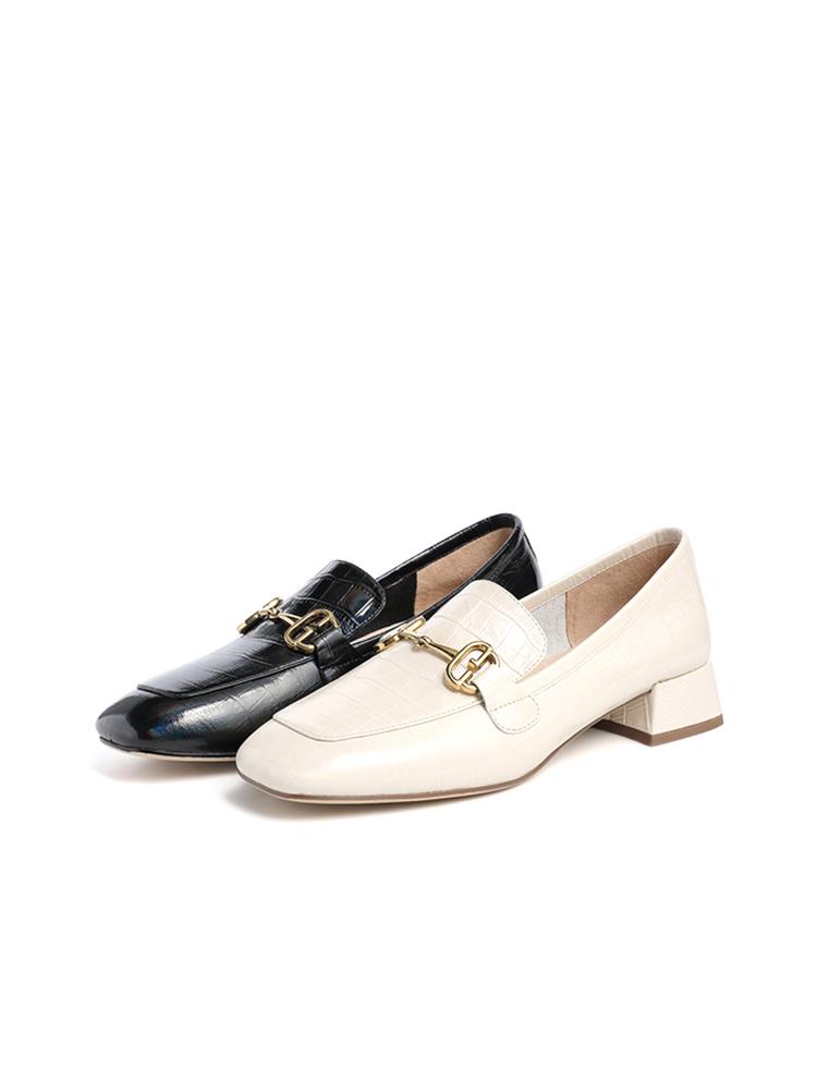 WYE01AA1 春款单鞋 2021 他她马衔扣乐福鞋女休闲百搭休闲小皮鞋 Tata