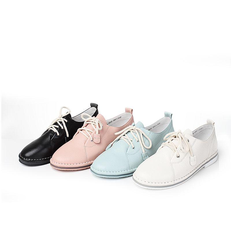 2WC20CM7 他她女鞋秋街拍学生休闲小白鞋低跟单鞋 TATA