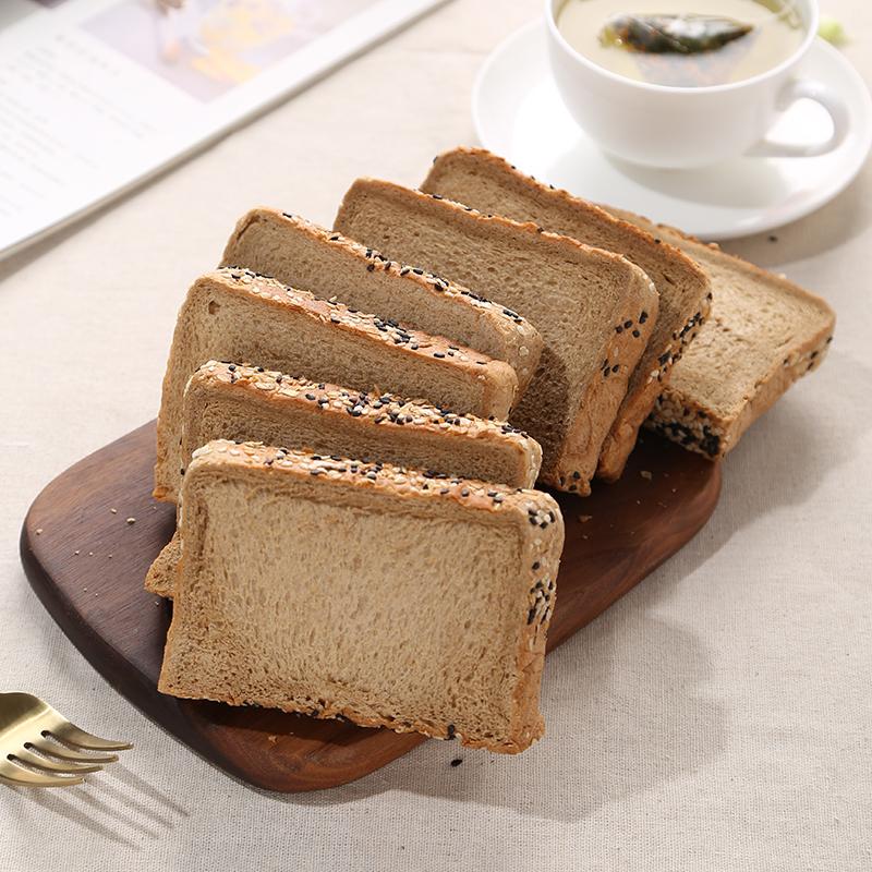 无添加蔗糖、轻食代餐、黑麦+全麦:2斤 味出道 粗粮吐司面包