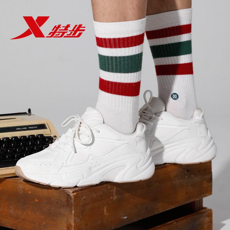新款运动鞋男士休闲鞋百搭跑步鞋轻便弥繁老爹鞋 2019 特步男鞋潮鞋