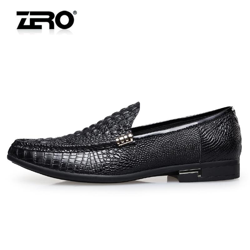 Zero零度正装皮鞋男士真皮商务休闲皮鞋鳄鱼纹英伦皮鞋德比鞋男鞋