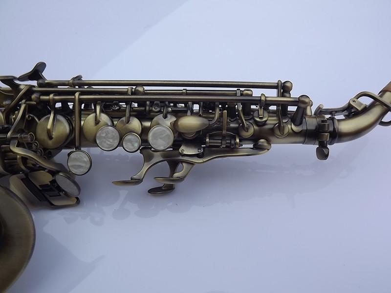 青铜拉丝萨克斯 调仿古铜 B 降 小弯管高音萨克斯 selmer 法国