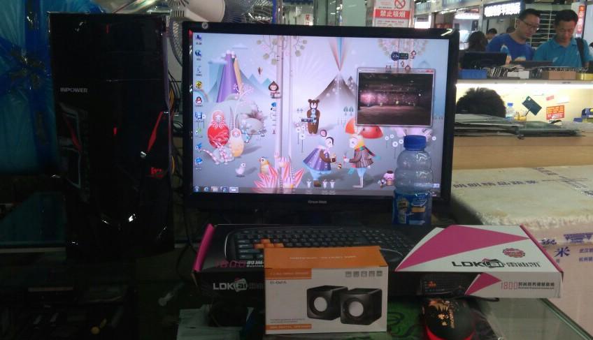 话务办公家用影音DIY游戏固态主机+液晶:组装兼容台式电脑二手全